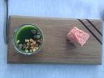 Cliff hotel asparagus pannacota + marthmallow