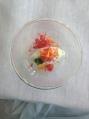 Cliff Hotel Gooseberry sorbet with gaspacho granita