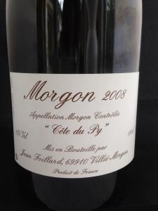 Morgon Cote du Py 2008
